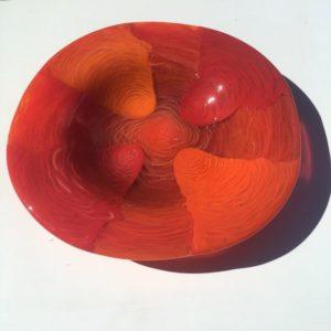 Red And Orange Large Bowl