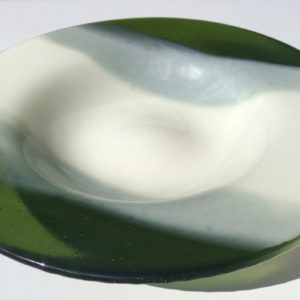 Round Milky Green Bowl