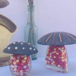 Slate Grey Dotted Mushroom
