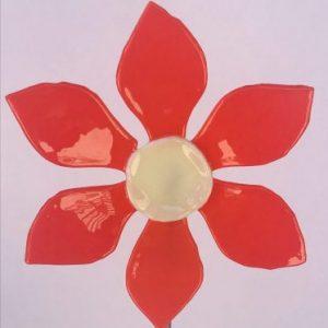 Fused Glass Garden Flower