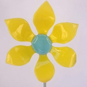 Fused Glass Garden Flower